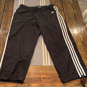Adidas black capris M